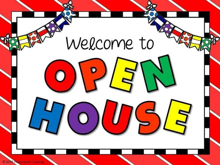 Mark your calendars for Open House!
