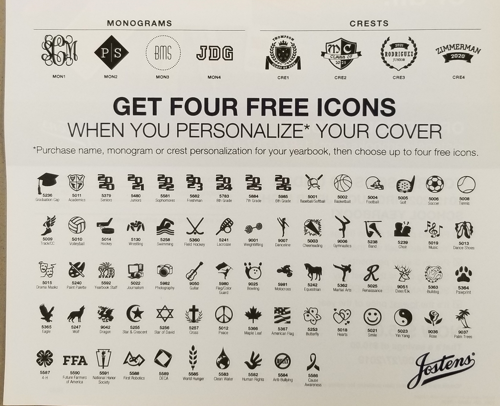 Free icon options