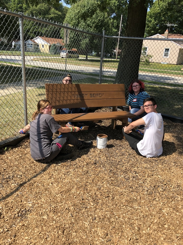 The Buddy Bench received a much-needed update!