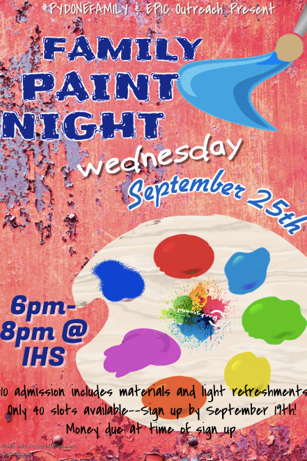 PYD Family Paint Night